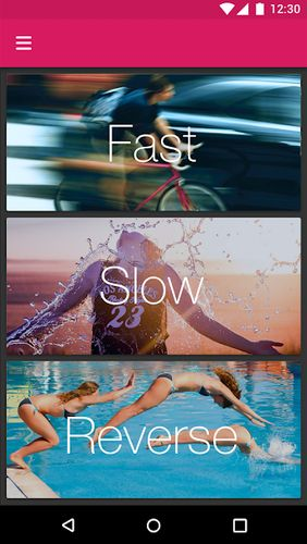 Efectum – Slow motion, reverse cam, fast video