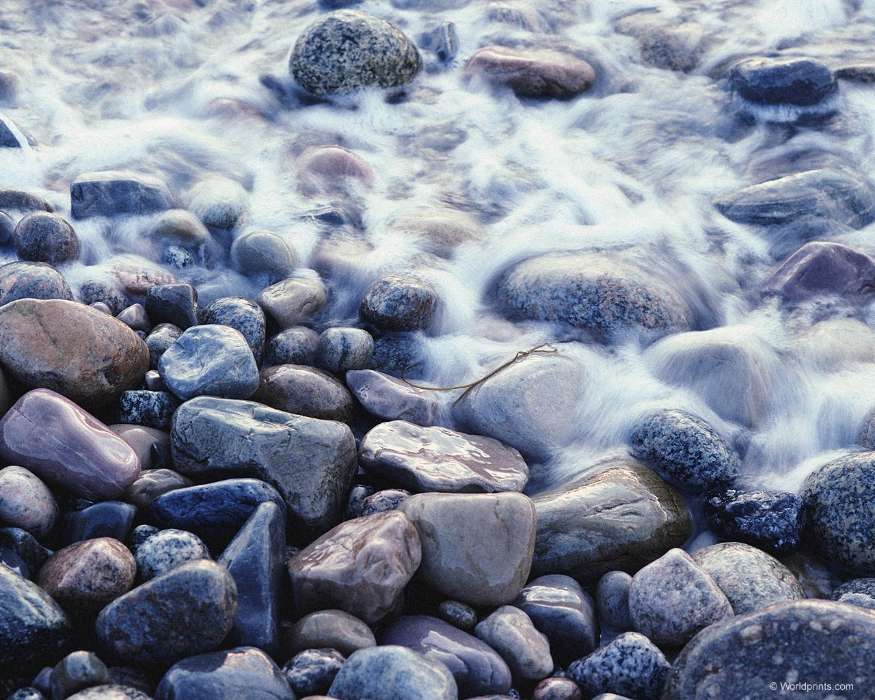 Water, Backgrounds, Stones
