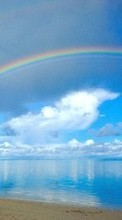 Sea,Landscape,Rainbow