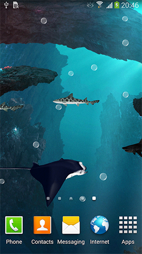 Gratis Akvarier live wallpaper för Android på surfplattan arbetsbordet: Sharks 3D by BlackBird Wallpapers.